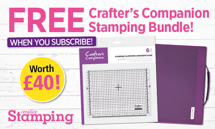 Free Crafter's Companion Stamp Platform and Storag folder when you subscribe to Creative Stamping