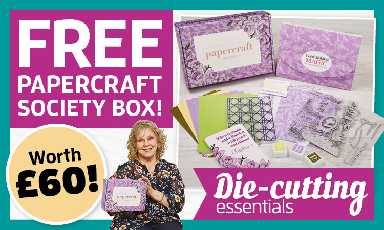 Subscribe to Die-cutting Essentials and receive a free Papercraft Society box worth £60