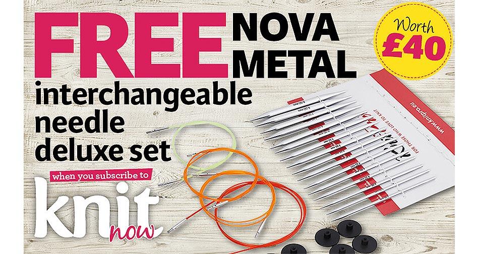 knit now subscription offer free KnitPro Nova knitting needles