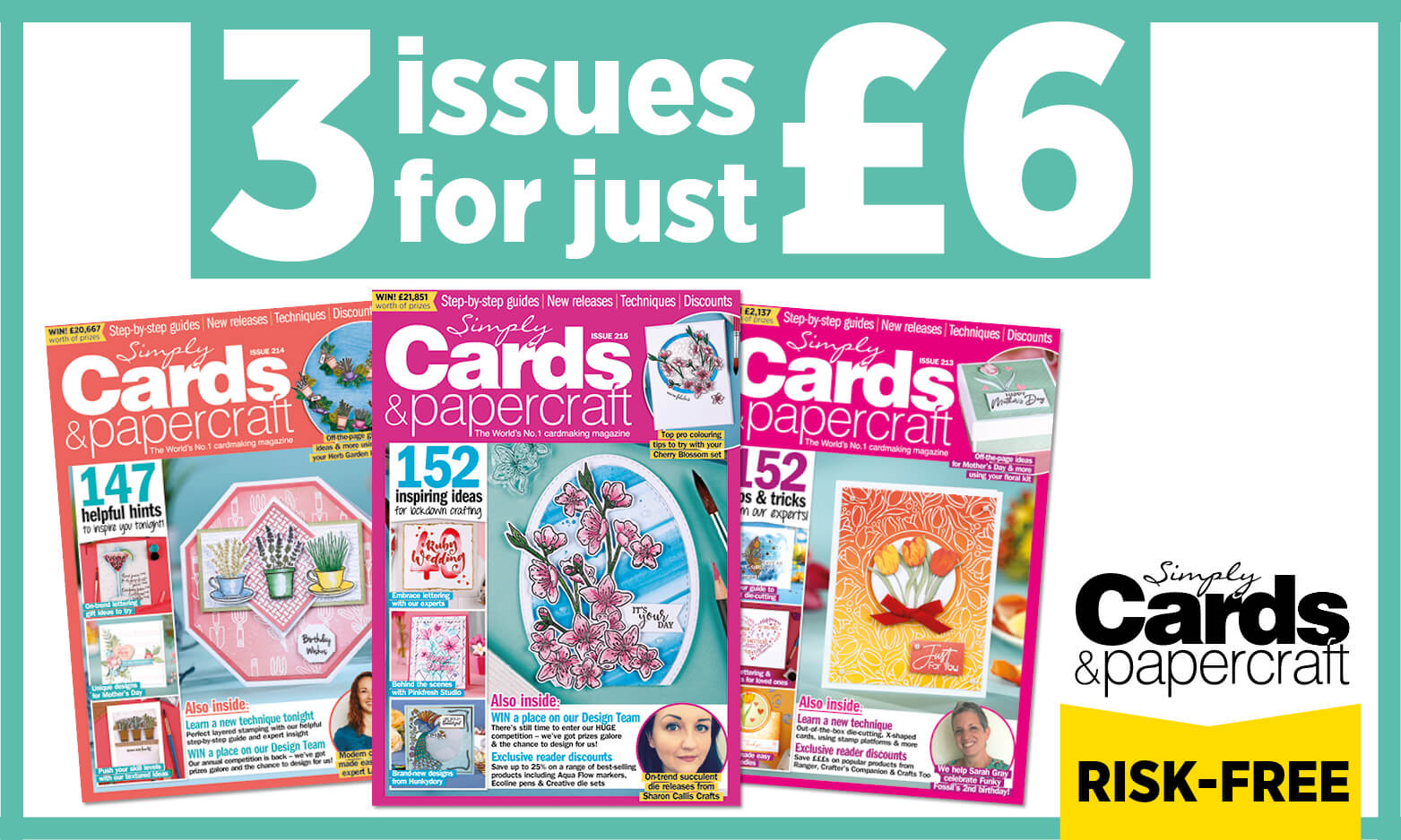 Simply Cards & Papercraft trial subscription offer 3 issues for £6