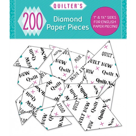 Quilt Now issue 27 on sale with FREE pack of diamond papers for English Paper Piecing