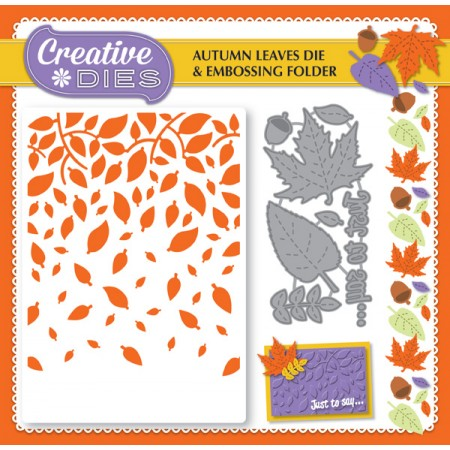 Die-cutting Essentials 14 on sale - FREE Autumn Leaves die set & embossing folder