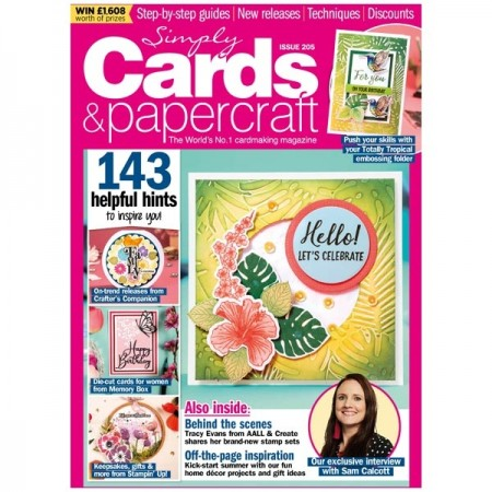 Simply Cards & Papercraft Magazine Issue 205