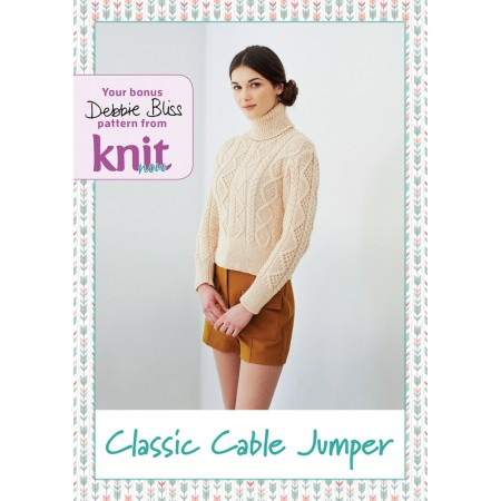 Knit Now  64 on sale now with TWO fabulous FREE gifts - 75g of lace yarn and a Debbie Bliss pattern card.