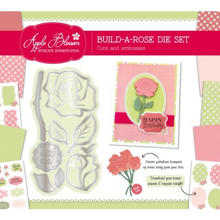 FREE Build-A-Rose 9-in-1 die set with issue 19 of Die-cutting Essentials