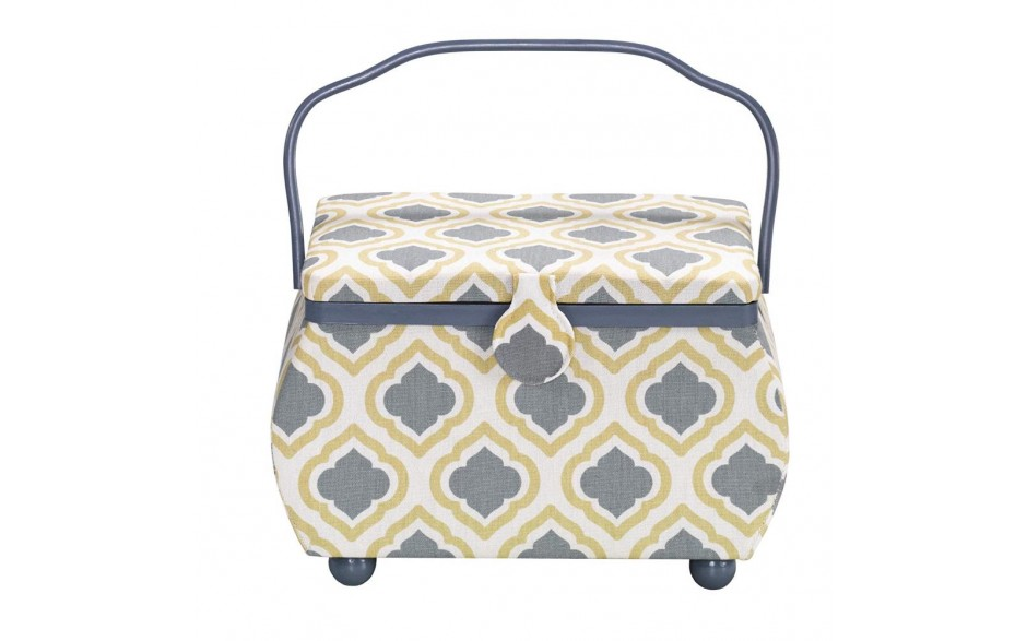 Prym Blue Bohemian sewing basket