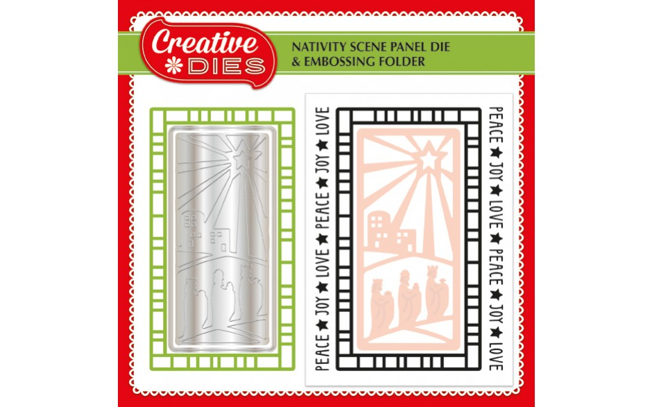 Die-cutting Essentials 16 now on sale - FREE Nativity Scene panel die and embossing folder