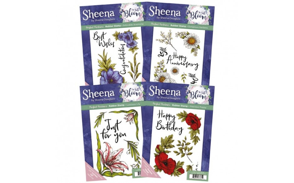 Sheena In Full Bloom stamp set
