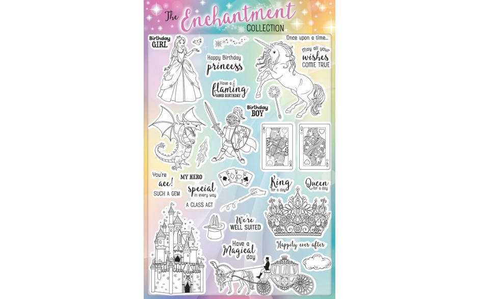 Creative Stamping 42 comes complete with a fabulous FREE Enchantment stamp set 32 images!