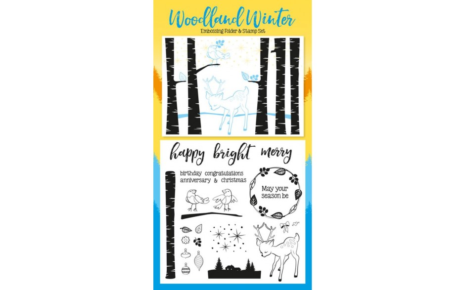 Papercraft Essentials issue 137 on sale with FREE fabulous FREE Winter Wonderland embossing folder & 24-piece stamp set