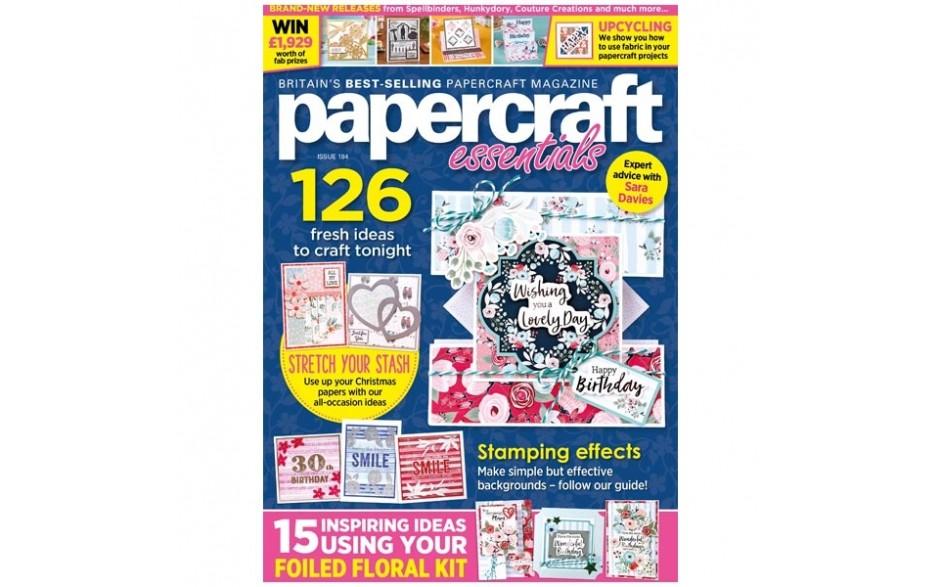 Papercraft Essentials Magazine Issue 184