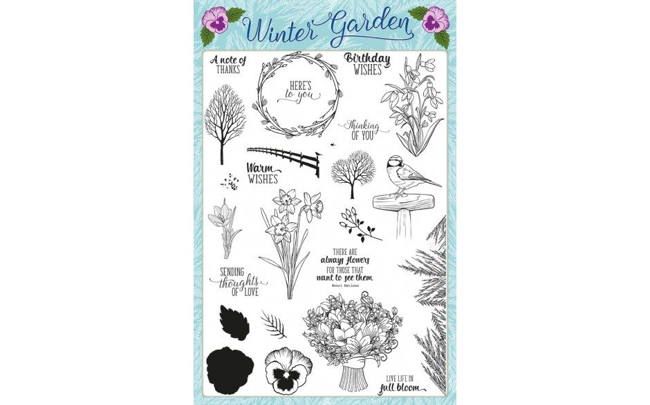Creative Stamping 37 comes complete with the free Winter Garden stamp set!