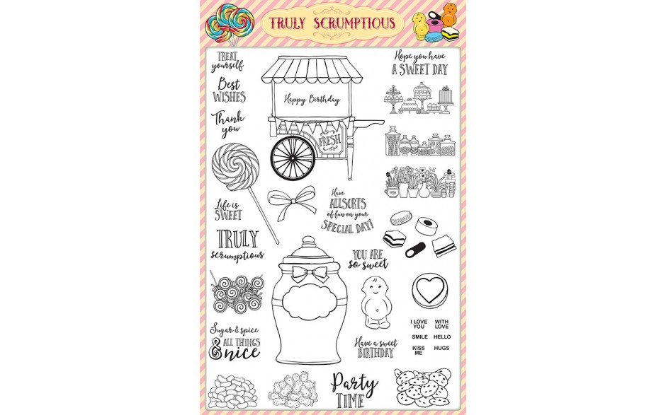 Creative Stamping 39 comes complete with the free Truly Scrumptious stamp set