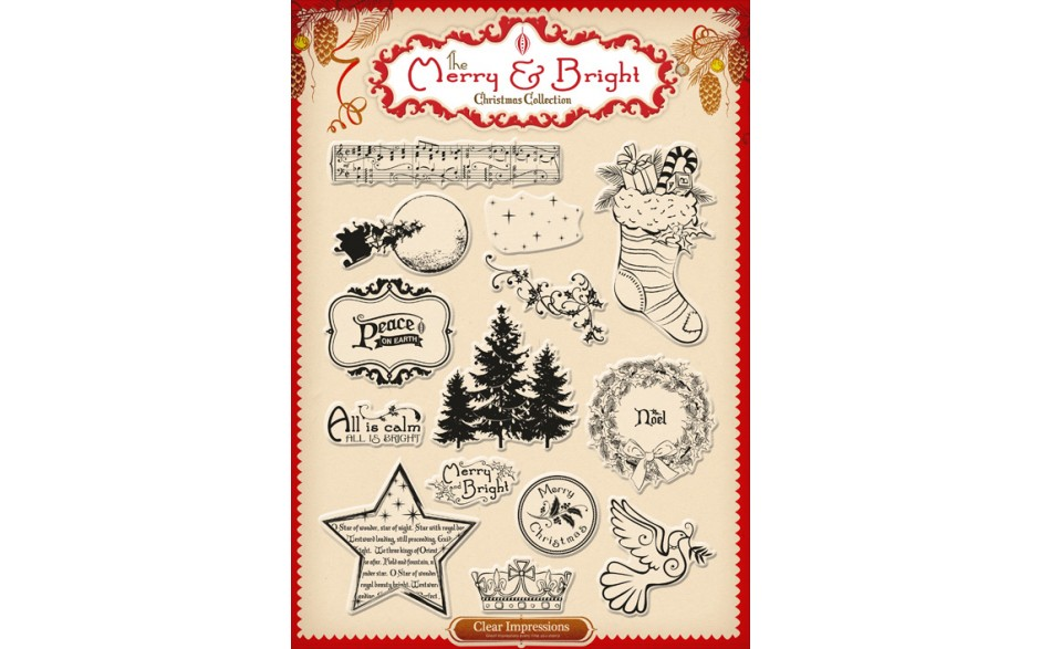 Merry and Bright Christmas A4 Stamp Collection