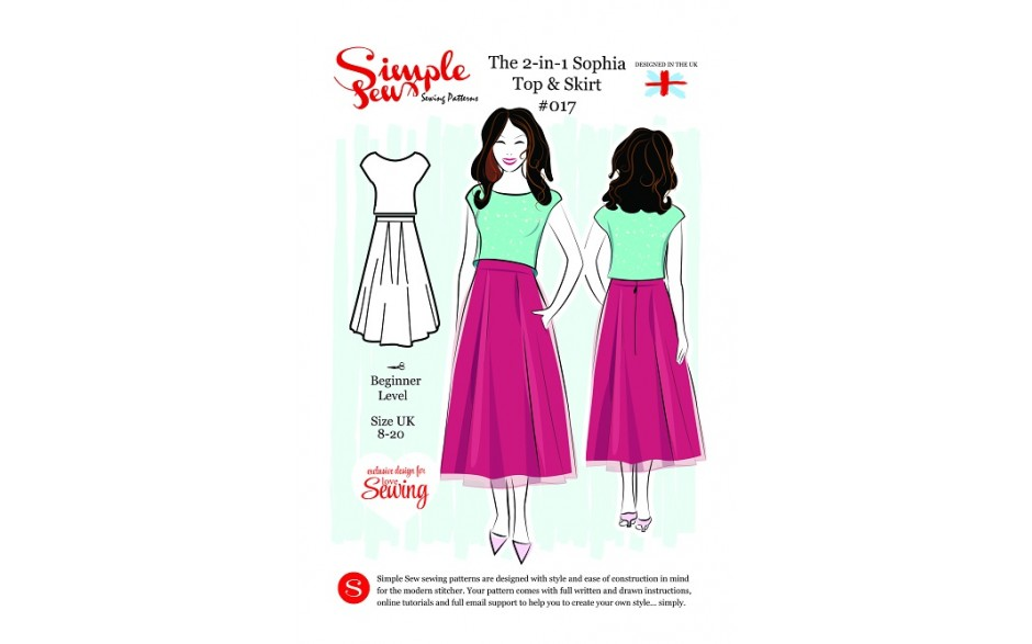 Simple Sew Sophia Top & Skirt pattern FREE – just pay for postage ...