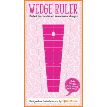 Quilt Now Issue 37 comes with an exclusive FREE gift: a Quilt Now designed dresden wedge ruler!
