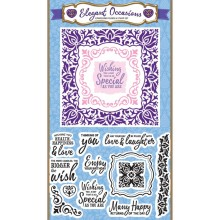 Simply Cards & Papercraft 161 with the fabulous Elegant occasions embossing folder & stamps