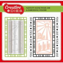 Die-cutting Essentials 16 now on sale - FREE Nativity Scene panel die and embossing folder