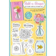 Simply Cards & Papercraft 162 with the stunning Build-a-bouquet die set & co-ordinating stamps