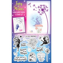 Papercraft Essentials 143 - FREE Fairy Wishes embossing folder & stamp set