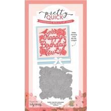 Die-cutting Essentials 22 - FREE Pretty Quick Floral Happy Birthday panel die!