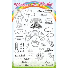 Creative Stamping 38 comes complete with the free Whatever the Weather stamp set featuring 38 exclusive designs