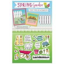 Free with issue 144 is the versatile Spring Garden die & stamp set!
